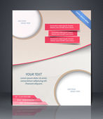 Vector layout shop or salon flyer, magazine cover, or corporate design template advertisment — Stock Vector