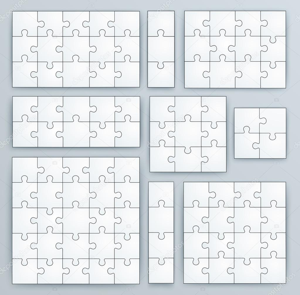 Piece jigsaw puzzle template jigsaw puzzle templates set of puzzle
