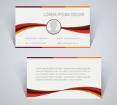 Business card, simple template with stripes — Stock Vector