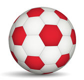 Football ball red- of white color — Stockvektor