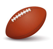American football ball on white background — Stock Vector