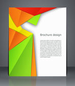 Geometric design brochures magazine cover, flyer, or poster  — Stock Vector