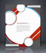 Volante de diseño vectorial, portada de la revista, plantilla o corporativo bann — Vector de stock