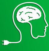 Thinking man, Creative brain Idea concept. — Stok Vektör