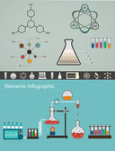Chemistry infographic, template of medical and scientific resear — Stock Vector