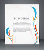 Magazine flyer, brochure or cover layout design template with fl — Stock Vector