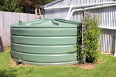 Large eco- friendly water storage tank — Stock Photo