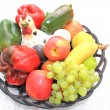 Fruit basket display — Stock Photo