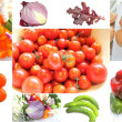 Collage of garden vegetables — Foto de Stock