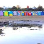 Colourful beach huts — Stock Photo #24756271