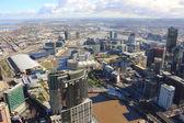 Vue aérienne des gratte-ciel de la ville — Photo