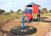 Speeltuin in aanbouw — Stockfoto