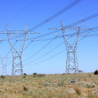 Stock Photo: Electricity power lines