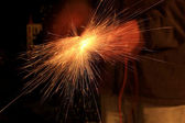 Welding sparks — Stock Photo