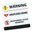 Warning sign isolated — Stock Photo #27136597