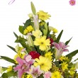 Beautiful bouquet of flowers with get well soon text — Stock Photo #27136921