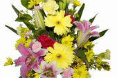 Colourful bouquet of beautiful flowers — Stok fotoğraf