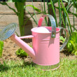 Childs pink watering can — Stock Photo