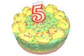 Child's icecream birthday cake — Stock Photo