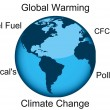 Stock Photo: Climate change and global warming illustration concept