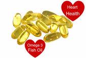 Omega 3 fish oil capsules isolated — Stock Photo