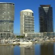 A beautiful morning at the Docklands in Australia — Stock Photo