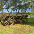 Old horse drawn wagon — Stok Fotoğraf #27682187