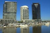 オーストラリアでドックランズに美しい朝 — ストック写真