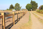 New timber fencing — Stock Photo