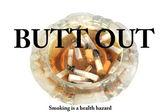 Dirty ashtray smoking concept — Stock Photo