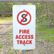Fire access track sign — Stock Photo #28363771