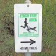 Dog walking exercise area sign  — Stock Photo