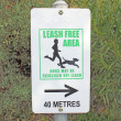 Stock Photo: Dog walking exercise area sign