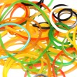 Colourful rubber bands — Stock Photo