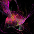 Twirling colourful digital abstrack background — Stock Photo