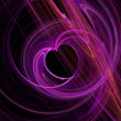 Purple heart fractal abstract background — Stock Photo #36153421