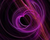 Purple heart fractal abstract background — Stock Photo