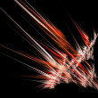 Rocket acceleration fractal abstract background — Stock Photo