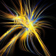 Stock Photo: Blue and gold fireworks fractal