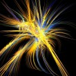 Stockfoto: Blue and gold fireworks fractal