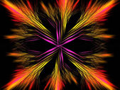 Symmetrical colourful feathered darts fractal — Стоковое фото
