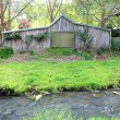 Stock Photo: Old Australifarm shed in bush setting