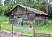 Old Australian settlers homestead in rural setting — Foto Stock