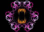 Frattale licantropo spaventoso con fiamme di denti — Foto Stock