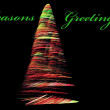 Stock Photo: Christmas tree fractal abstract with seasons greetings text