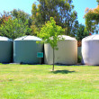 Large eco-friendly fresh water tanks — Stock Photo #37761503