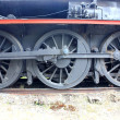 Old steam train wheels — Stock Photo