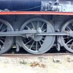 Old steam train wheels — Stock Photo