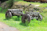 Old wooden settlers wagon — Stock fotografie