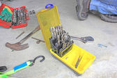 Tools and drill bits — Stock Photo